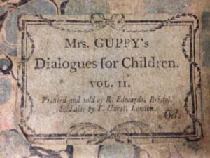 Cover of volume 2 of Mrs Guppy's Dialogues for Children (1800)
