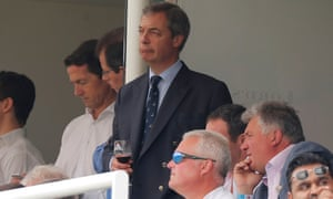 Nigel Farage at Lord's in June