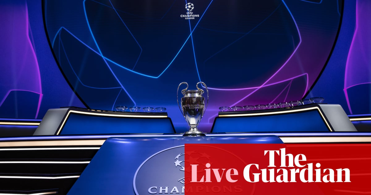 Champions League group stage: Manchester City drawn with PSG – live!