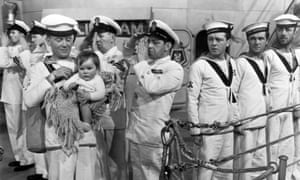 John Mills () in In Which We Serve, one of his many nautical outings on screen.