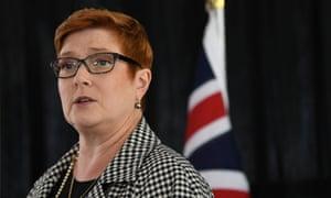 Australian foreign minister Marise Payne
