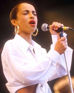 Sade in 1986 … a white-shirt idol.