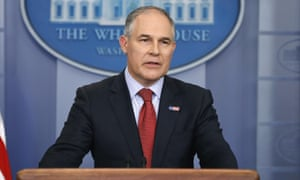 Scott Pruitt said modern mining practices and other rules made an Obama-era regulation unnecessary.