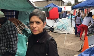 Soraya Vazquez, a volunteer who coordinates Tijuana's migrant shelters.