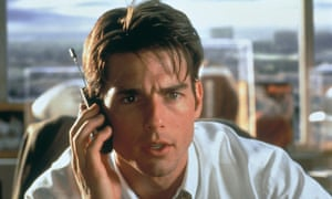 Jerry (Tom Cruise) on the line to his demanding client Rod (Cuba Gooding Jr).