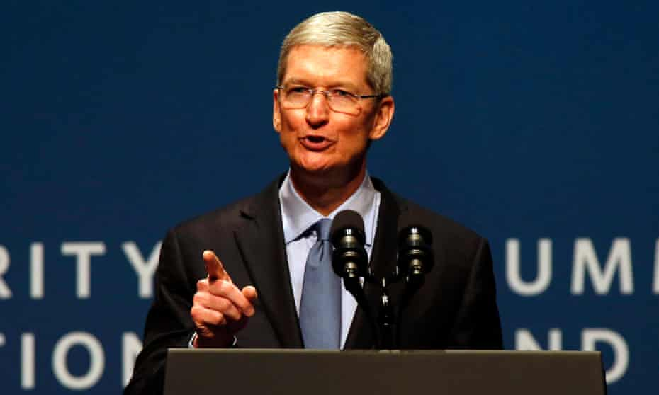'We don't think people want us to read their messages. We don't feel we have the right to read their emails,' said Tim Cook of his company, Apple.