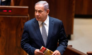 Binyamin Netanyahu attends a session of the Knesset on Tuesday