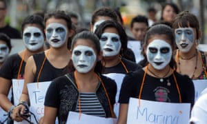 A protest against El Salvador's abortion laws and the imprisonment of women.