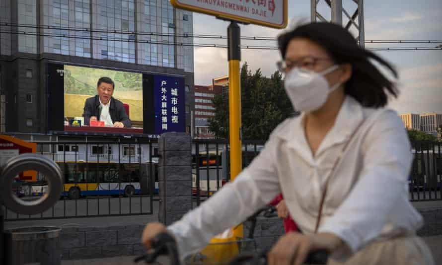 A street scene in Beijing