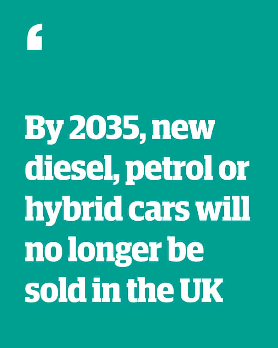 Quote: 'By 2035, new diesel, petrol or hybrid cars will no longer be sold in the UK'