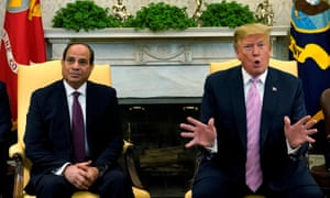 The Egyptian president visited Donald Trump at the White House earlier in April.