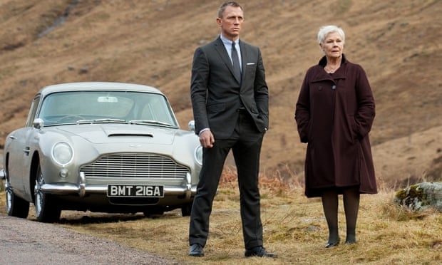 Climate change … Daniel Craig and Judi Dench with an eco-unfriendly Aston Martin in Skyfall.