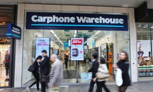 Carphone Warehouse in Oxford St, London