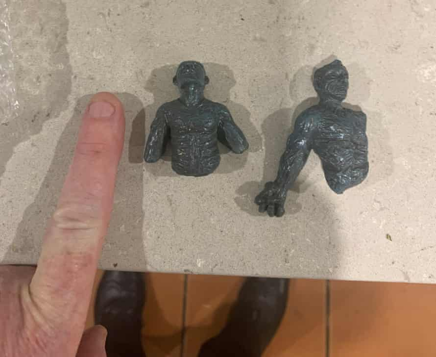 """The """"poorly moulded plastic"""" sculpture received by Chris Owen."""