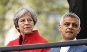 Theresa May and Sadiq Khan