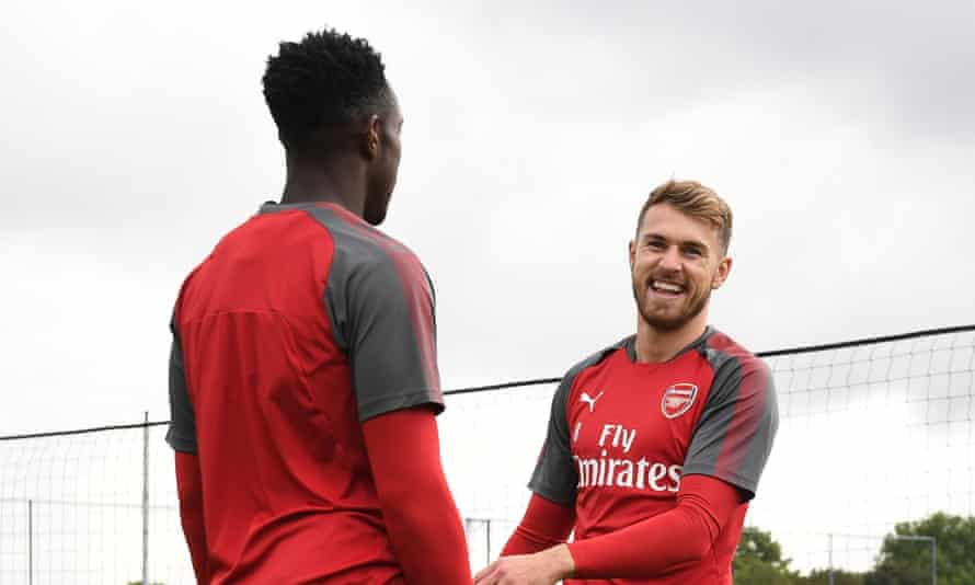 Aaron Ramsey, right, and Danny Welbeck