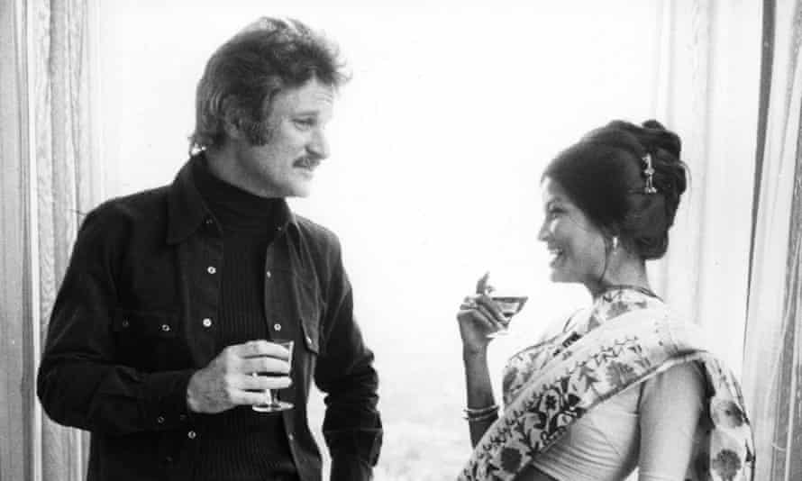 John Ashbery talking to the poet Farida Majid at a poetry international in London in 1972.