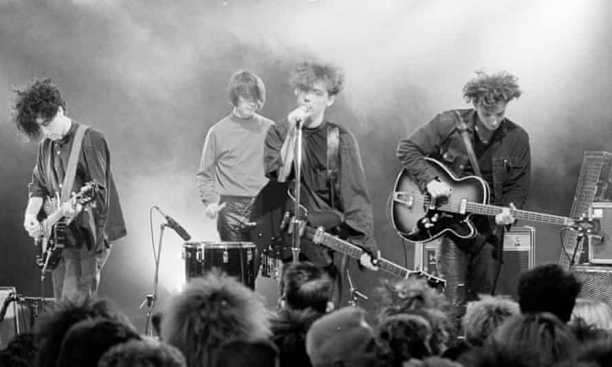 Gillespie, on drums, with the Jesus and Mary Chain.