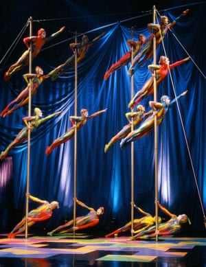 Dazzle offensive … Cirque du Soleil on The Tonight Show With Jay Leno.