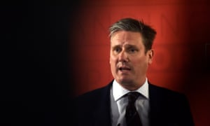 Kier Starmer, shadow secretary of state for exiting the EU, outlines Labour's position on Brexit during an election campaign speech in London on Tuesday.