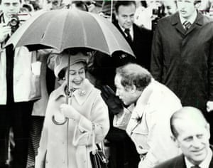 The Queen with Canadian prime minister Pierre Trudeau, father of Justin, in London in 1977.