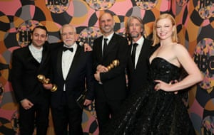 Succession actors Kieran Culkin, Brian Cox, Jesse Armstrong, Alan Ruck and Sarah Snook at the HBO afterparty