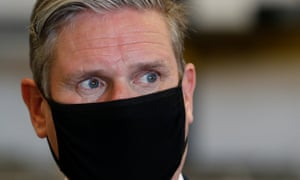 Labour leader Keir Starmer in Peterborough, England, on 31 July 2020