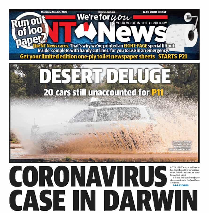 The NT News front page