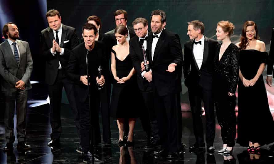 The cast of Babylon Berlin at the 2019 European Film Awards.