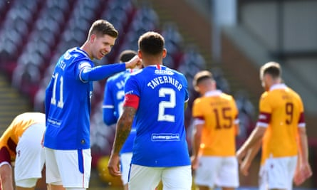 Cedric Itten and James Tavernier both scored twice in Rangers' 5-1 win at Motherwell.