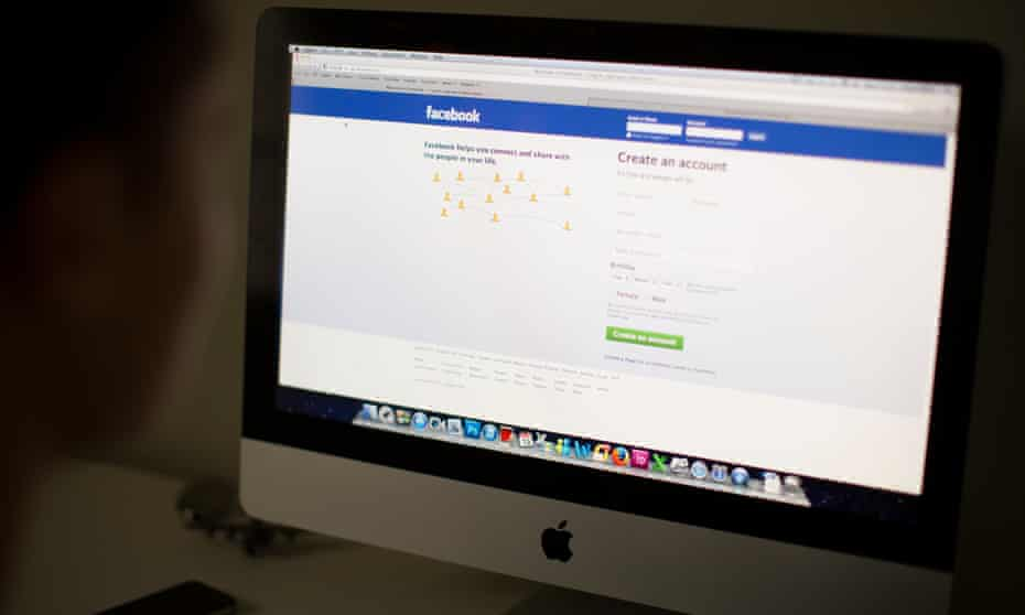 Facebook on a computer