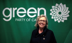 Green party leader Elizabeth May: 'The public support feels very different. It's palpable. It's tangible.'