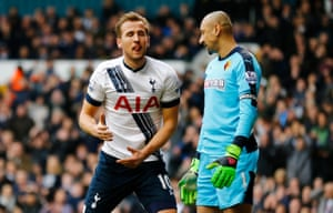 Harry Kane looks dejected after missing that chance.