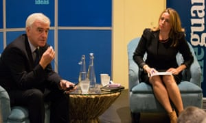 John McDonnell was interviewed at a fringe event by Guardian editor-in-chief Katharine Viner.