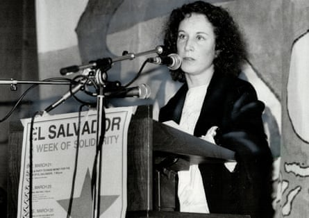 Margaret Atwood reading one of three poems she presented at a 1981 rally condemning US intervention in El Salvador