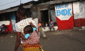 An internet cafe in Monrovia, Liberia