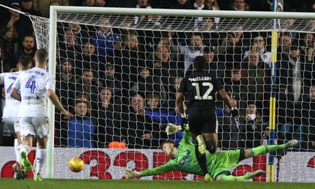 Football League: Peacock-Farrell's penalty save helps Leeds hurdle Boro