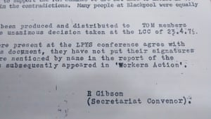 Document written by Gibson when he was undercover