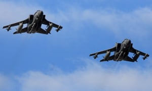 Two RAF Tornados return to RAF Akrotiri in Cyprus.