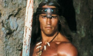Arnold Schwarzenegger in Oliver Stone's 1982 Conan movie