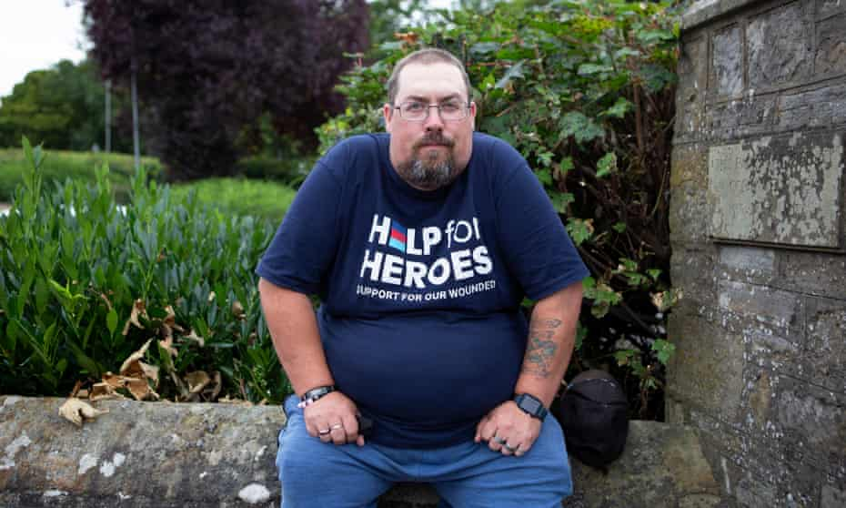 Adam Black, who spent 17 years in the military
