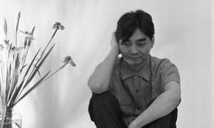 Contemplating nature ... composer Haruomi Hosono.