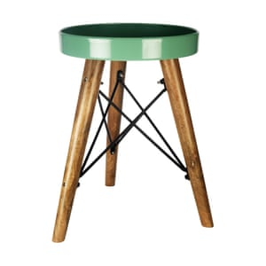 Sainsbury's Home Stockholm small green round table, £28