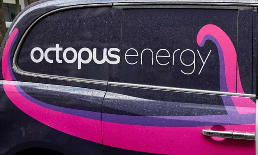 Octopus Energy branded electric taxi