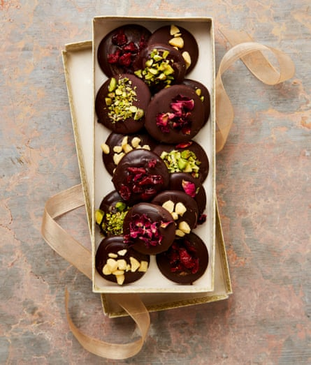 Meera Sodha's edible Christmas gifts: spiced chocolate coins.