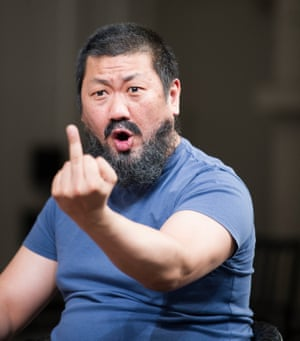 Benedict Wong as Ai Weiwei in the play.