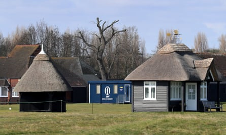 A competition cabin already installed at Royal St George's, where the next Open will now be held in 2021.