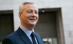 The French finance minister, Bruno Le Maire
