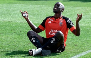 Yoane Wissa was outstanding for Lorient as they beat Strasbourg on Sunday.