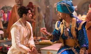 Respectful representation … Mena Massoud as Aladdin and Will Smith as the Genie.